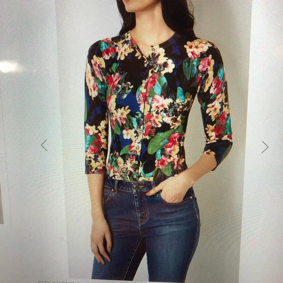 NWT Tropical Millen print Karen floral cardigan nm0N8w